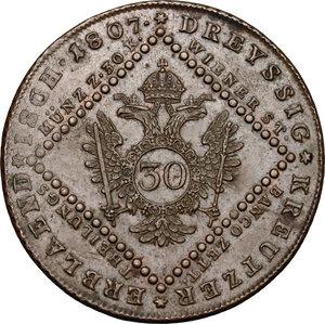 reverse: Austria.  Franz II/I (1792-1805-1835).. AE 30 Kreuzer 1807, Vienna