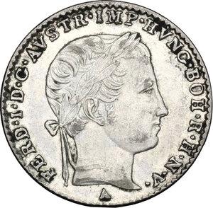 obverse: Austria.  Ferdinand I (1835-1848).. AR 3 Kreuzer 1840 A, Vienna mint