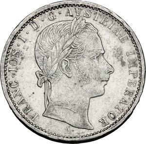 obverse: Austria.  Franz Joseph (1848-1916).. AR 1/4 Florin 1859 A, Vienna mint