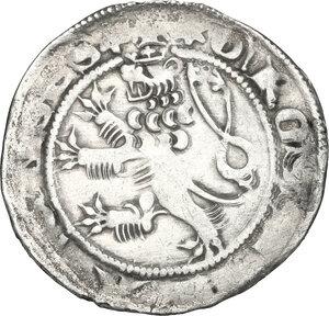 reverse: Bohemia.  John of Bohemia (1310-1346).. AR Prager Groschen, Kutna Hora