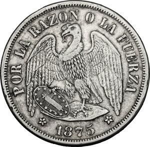 obverse: Chile. AR Peso, 1875