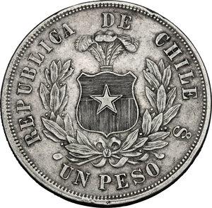 reverse: Chile. AR Peso, 1875