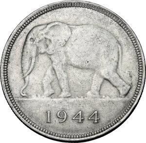 obverse: Congo Belga. AR 50 Francs, 1944