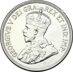 obverse: Cyprus.  George V (1910-1936).. AR 45 Piastres, 1928