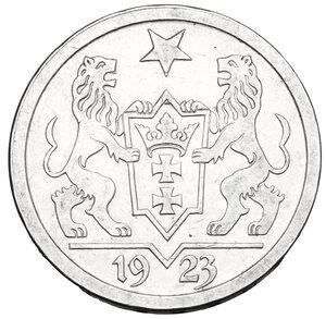 obverse: Danzica. AR 2 Gulden, Free city of Danzig, 1923