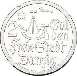 reverse: Danzica. AR 2 Gulden, Free city of Danzig, 1923