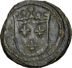 obverse: France.  Charles VIII (1483-1498).. AE Coin weight, South Italy