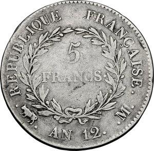 reverse: France.  Consulship (1799-1804).. AR 5 Francs AN 12 M, Toulouse mint