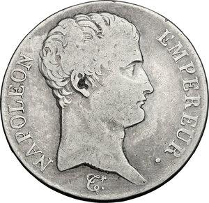obverse: France.  Napoleon (1804-1814).. AR 5 Francs AN 14 A, Paris mint
