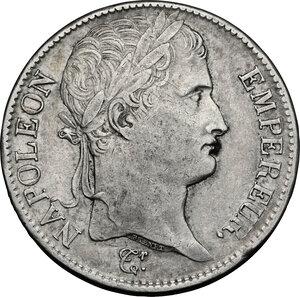obverse: France.  Napoleon (1804-1814).. AR 5 Francs 1808 B, Rouen mint