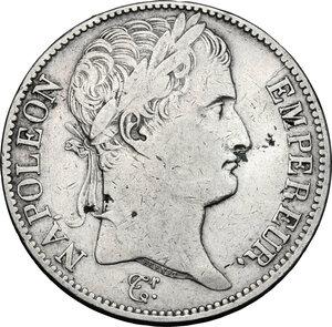 obverse: France.  Napoleon (1804-1814).. AR 5 Francs, 1809 B, Rouen mint