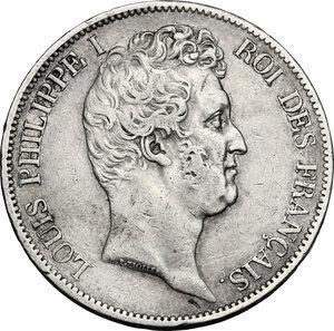 obverse: France.  Louis Philippe I (1830-1848). . AR 5 Francs 1831 K, Bordeaux mint