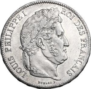 obverse: France.  Louis Philippe I (1830-1848). . AR 5 francs 1838 A, Paris mint