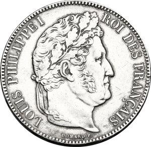 obverse: France.  Louis Philippe I (1830-1848). . AR 5 francs 1839 A, Paris mint