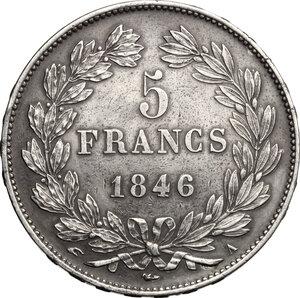 reverse: France.  Louis Philippe I (1830-1848). . AR 5 francs 1846 A, Paris mint