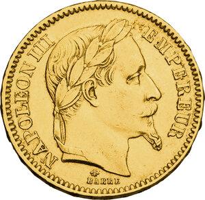 obverse: France.  Napoleon III (1852-1870).. AV 20 Francs 1864