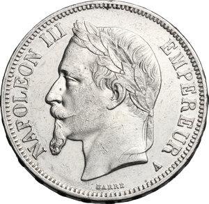 obverse: France.  Napoleon III (1852-1870).. AR 5 francs 1868 A, Paris mint