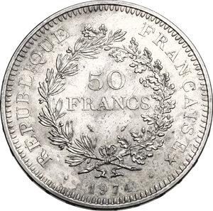 obverse: France.  Fifth République (1959-...). AR 50 francs 1974