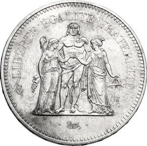 reverse: France.  Fifth République (1959-...). AR 50 francs 1974