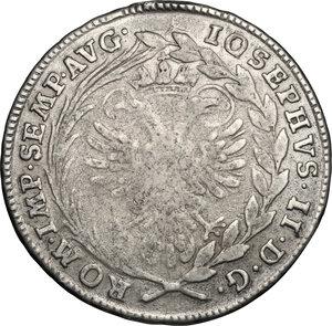 obverse: Germany.  Joseph II (1765-1790).. AR 20 Kreuzer, Regensburg mint, 1775