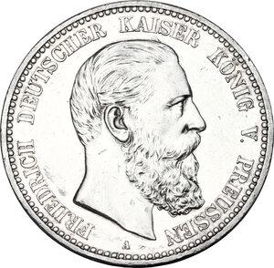obverse: Germany.  Friedrich III (1888).. AR 5 Mark, 1888 A, Berlin mint