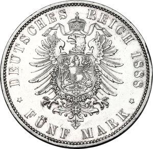 reverse: Germany.  Friedrich III (1888).. AR 5 Mark, 1888 A, Berlin mint