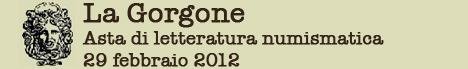 Banner La Gorgone - Asta di letteratura numismatica
