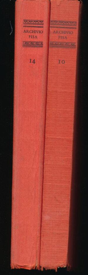 obverse: BASCAPE  G.C. - Sigillografia il sigillo nella diplomatica, nel diritto, nella storia, nell arte Voll. I e II. Archivio della Fondazione Italiana per la Storia Amministrativa 10 e 12. Milano, 1969-1978, pp. 457+400, tavole in b/n. Buono stato