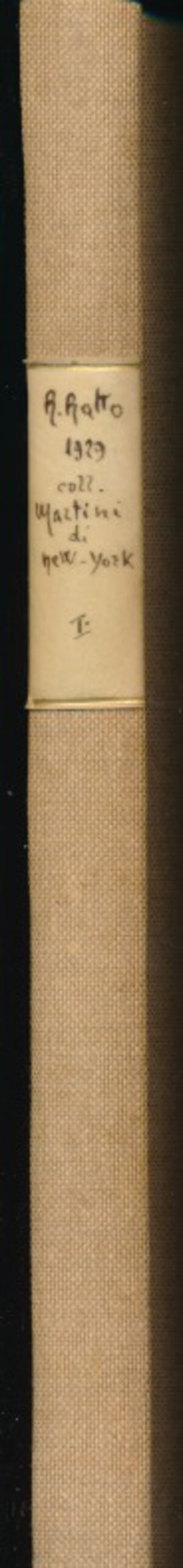 obverse: RATTO R. - Asta 30 Gennaio 1929 Lugano. Collezione Giuseppe Martini di New York. Monete italiane. Parte prima Zecche dell Italia settentrionale e dell Emilia. Pp. 83 + 35 tavole. Rilegatura rigida in tela. Ottimo stato.