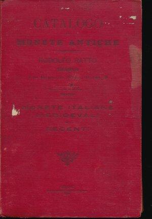 obverse: RATTO R. - Listino 1899-1900 n° 6 Parte II Genova. Catalogo di monete antiche. Copertina rigida cartonata. Buono stato.