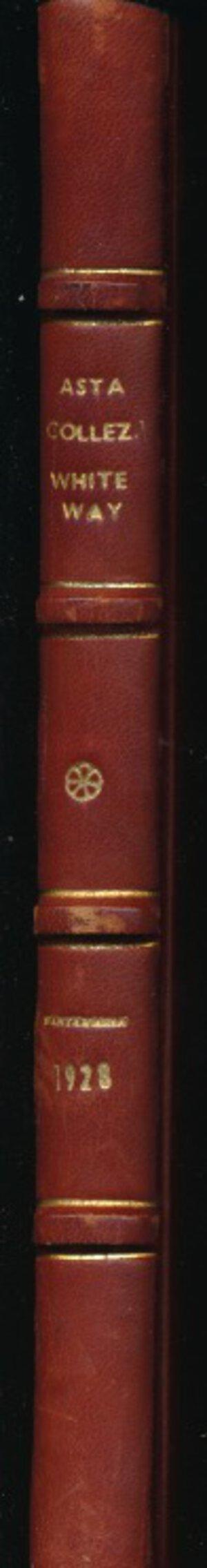 obverse: SANTAMARIA P.&P. - Asta 21 giugno 1928 Roma. Collezione Whiteway. Monete di zecche italiane. Pp. 128 + 22 tavole in b/n. Rilegatura rigida con dorso e angoli in pelle e piatto marmoreo. Buono stato. Importante asta.