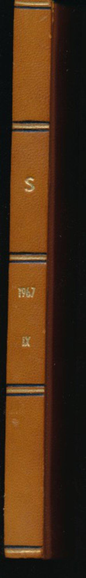obverse: SANTAMARIA P.&P. - Listino 1967 Roma. Tavole in b/n. Rilegatura con dorso ed angoli marroni. Buono stato.