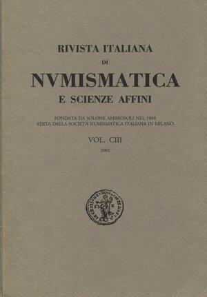 obverse: AA.VV. R.I.N. Vol CIII 2002. Milano.  Pp.522, tavv. e ill. nel testo. Ril.ed. Buono stato