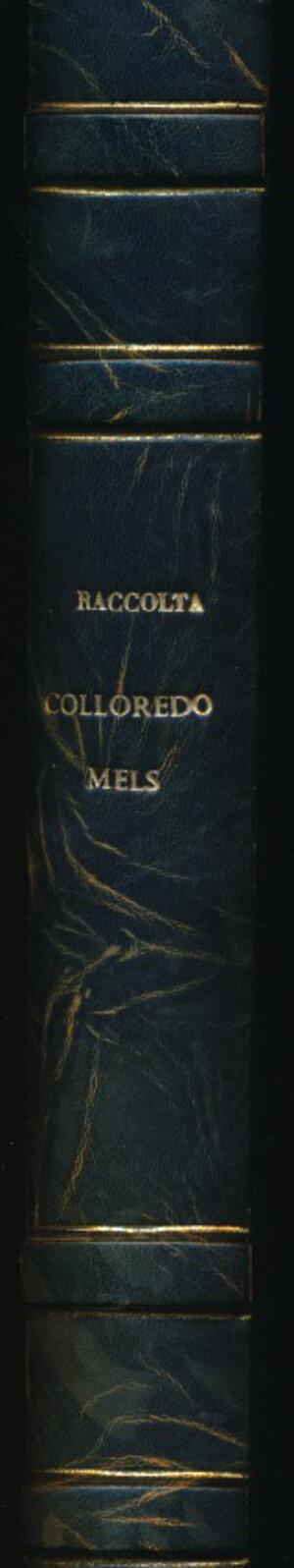 obverse: COSMI C. Catalogo della raccolta Numismatica Rodolfo di Colloredo Mels. Udine, 1955, pp. 774. Copertina rigida con piatto marmoreo, Ottimo stato.