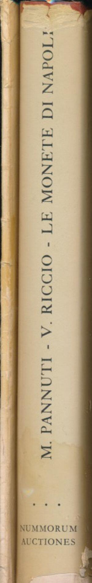 obverse: PANNUTI M., RICCIO V. - Le monete di Napoli. + prezzario di De Falco. Lugano, 1984, pp. 323, foto in b/n. Copertina rigida in tela con sovraccoperta. Buono stato.