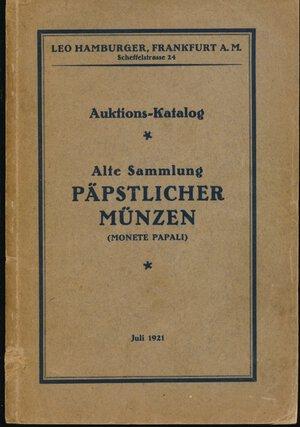 obverse: ADOLPH, CAHN - Asta 12 luglio 1921 Frankfurt. Collezione Dotti. Monete papali. Pp. 87 + 16 tavole. Discreto stato.