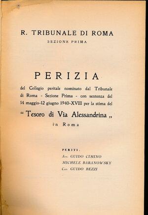 obverse: BARANOWSKY, BEZZI, CIMINO - Tribunale di Roma Perizia