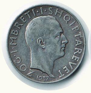 obverse: ALBANIA - Zog (1912-1939) - 2 Fr. 1937