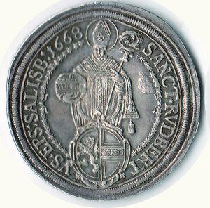 obverse: AUSTRIA - Salisburgo - Max Ganlph (1668-1687) - Tallero 1668
