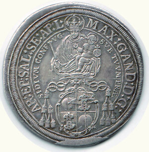reverse: AUSTRIA - Salisburgo - Max Ganlph (1668-1687) - Tallero 1668