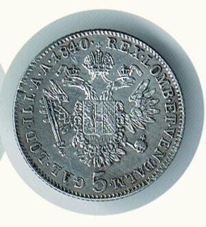 reverse: AUSTRIA - Ferdinando I (1835-1848) - 5 Kreuzer 1840