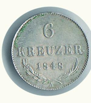obverse: AUSTRIA -Rivoluzione 1848-49 - 6 Kreuzer 1848A.