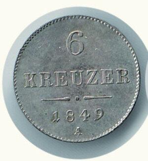 obverse: AUSTRIA -Francesco Giuseppe - 6 Kreuzer 1849 A
