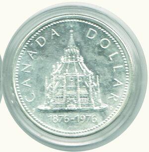 reverse: CANADA - Dollaro 1976.