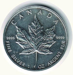 reverse: CANADA - 5 Dollari 1994 - Foglia d'acero.