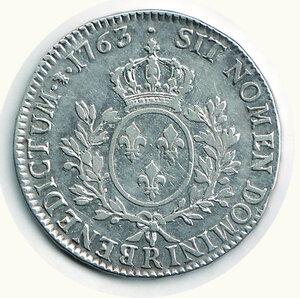 reverse: FRANCIA - Luigi XV - Ecu 1763.