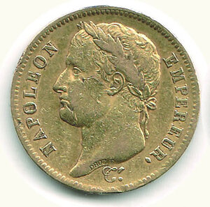 obverse: FRANCIA - Napoleone - 40 Fr. 1812 A.