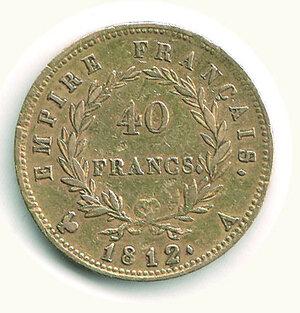 reverse: FRANCIA - Napoleone - 40 Fr. 1812 A.
