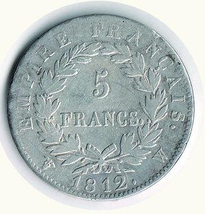 reverse: FRANCIA - Napoleone I - 5 Francs 1812