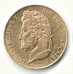 obverse: FRANCIA - Luigi Filippo - 20 Fr 1836 A.